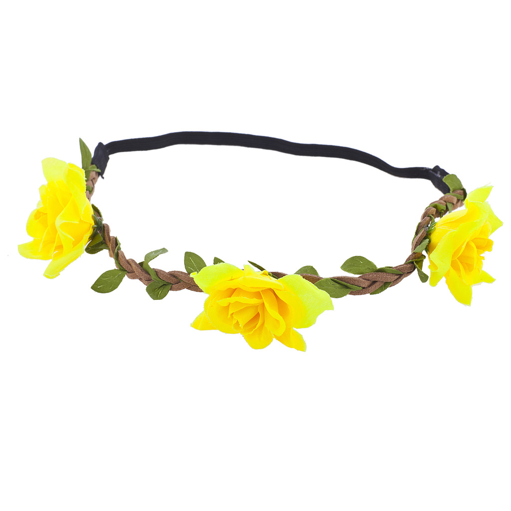 Transparent flower crown yellow