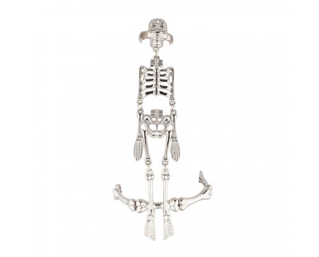 Skeleton Bones Stretch Bracelet Slave Chain Ring Goth
