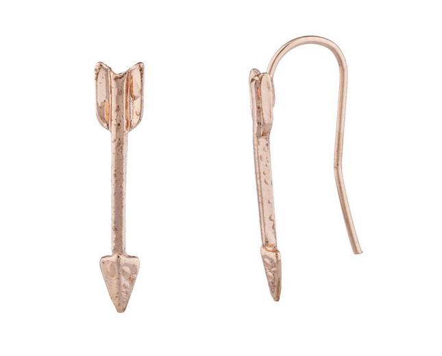Rose Gold Tone Casted Arrow Ear Cuff Ear Creepers Ear Threader
