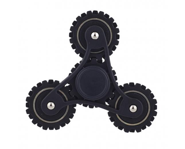 Matte Black Trendy Kids Adult Tri Toy Fidget Spinner Hand