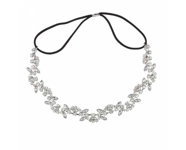 Pave Bridal Stretch Crystal Headband Head Band
