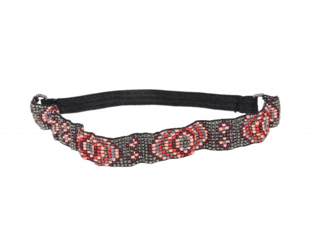 Tribal Beaded Cool Stretch Headband