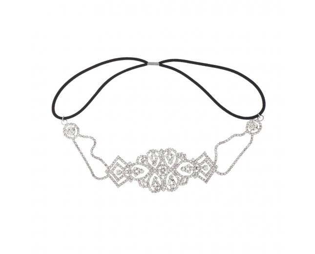 Pave Crystal Bridal Elegant Stretch Headband Head Band