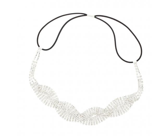 Weaved Pave Crystal Stretch Bridal Hair Headband Head Band