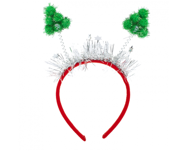 Christmas Tree Bopper Headband Holiday Party Accessory