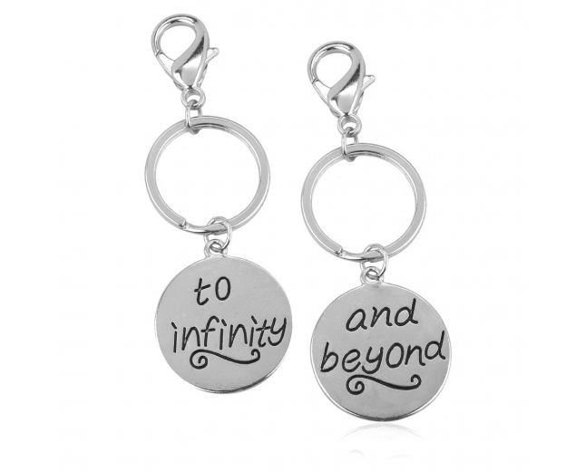 To Infinity & Beyond BFF Best Friends Forever Matching Keychain Set (2 PC).