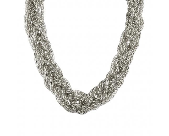Mesh Braided Statement Necklace.