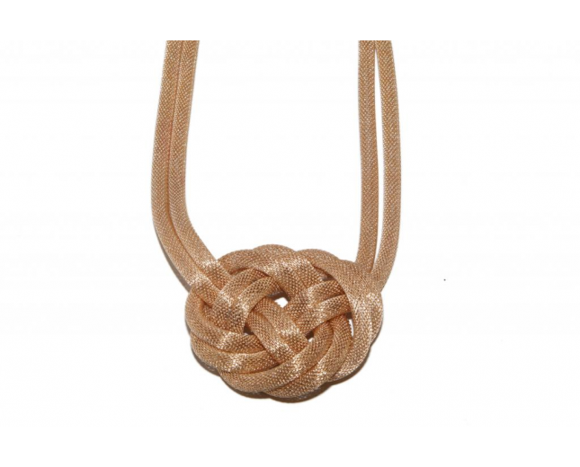 Mesh Braided Knot Textured Necklace
