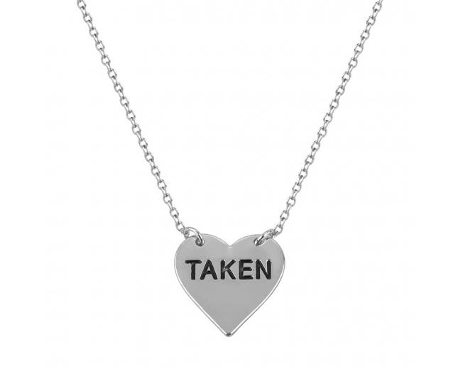 delicate taken heart boyfriend girlfriend gift pendant. Black Bedroom Furniture Sets. Home Design Ideas