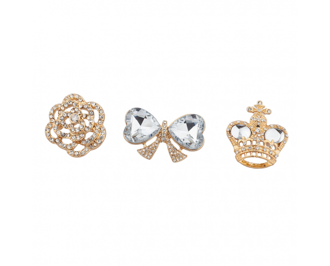 "Goldtone ""Royal"" Pin Set (3PC)"