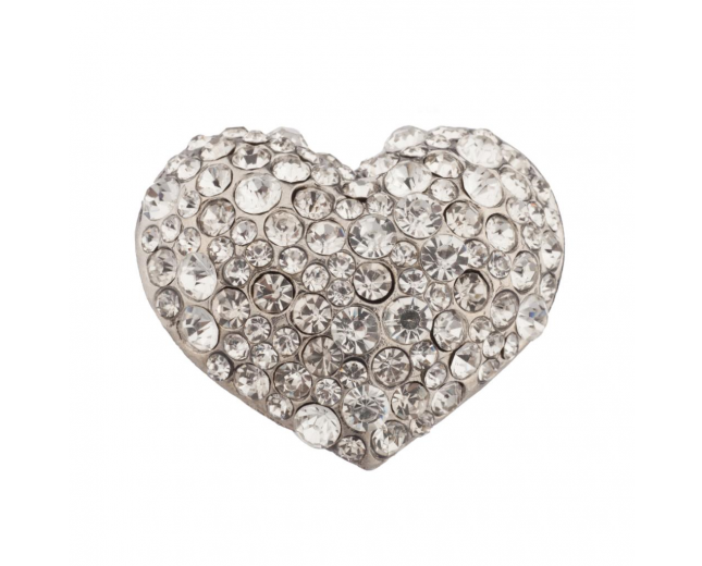 Heart Stone Studded Stretch Ring
