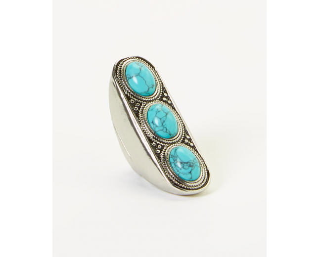 Turquoise Trio Stretch Ring