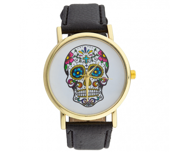 Day of the Dead Sugar Skull Watch