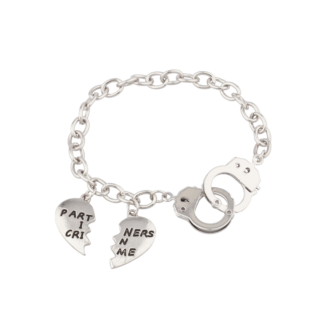 Partners In Crime Handcuff Hand Cuff Bff Best Friends Forever Bracelet