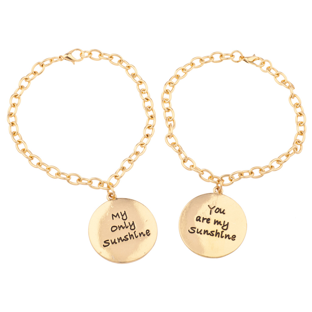 You Are My Sunshine Only Bff Best Friends Forever Bracelet Set 2 Pc