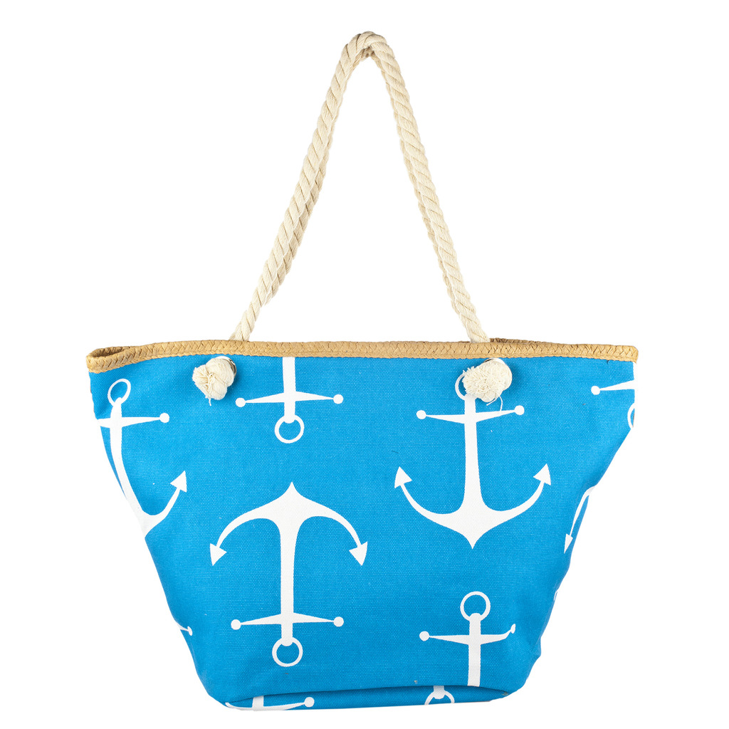Lux Accessories Womens Zip Up Beach Bag Turk Anchor - Phone ...