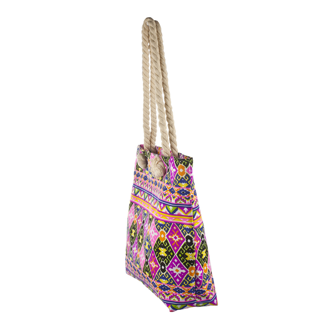 Lux Accessories Womens Zip Up Beach Bag Aztec Multi - Phone ...
