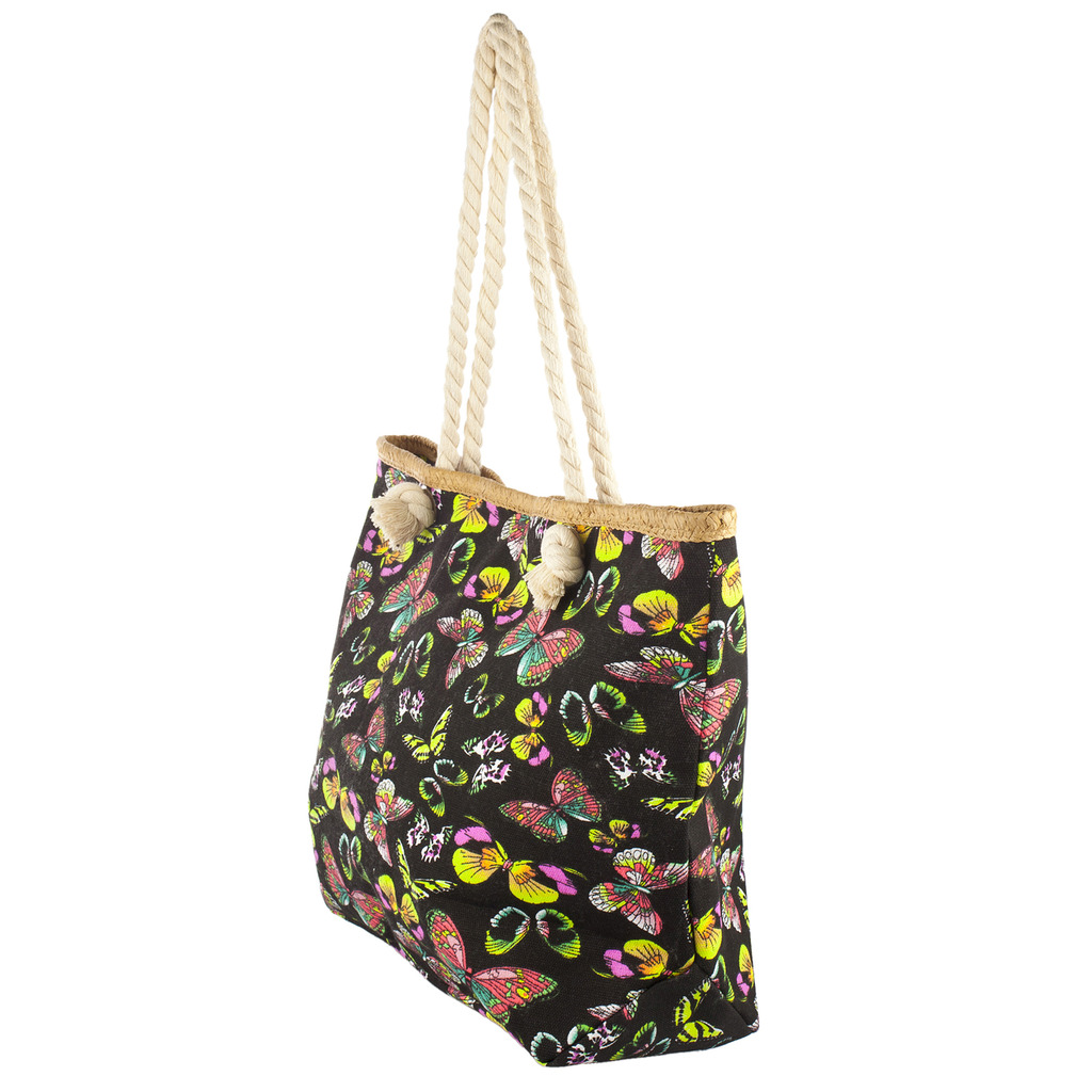 Lux Accessories Womens Zip Up Beach Bag Butterfly - Phone ...