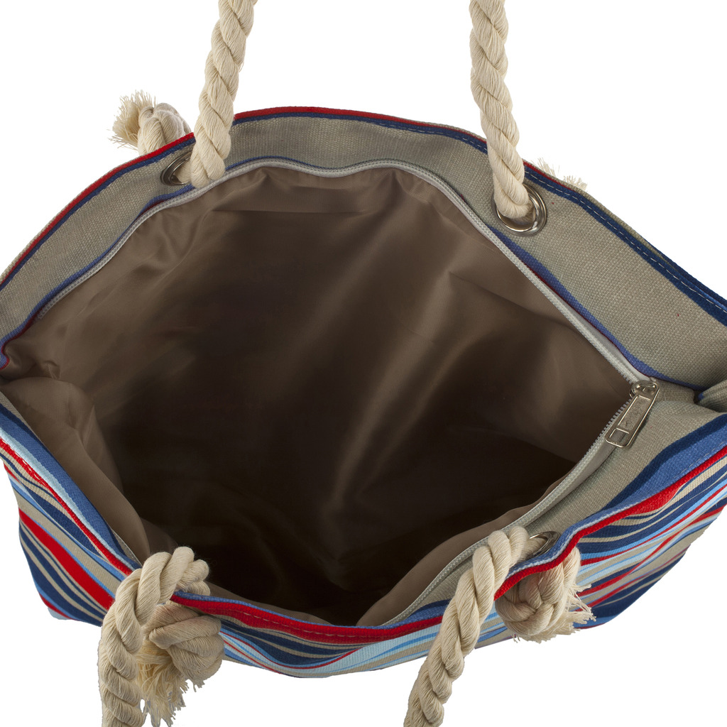 Lux Accessories Womens Zip Up Beach Bag Nautical - Phone ...