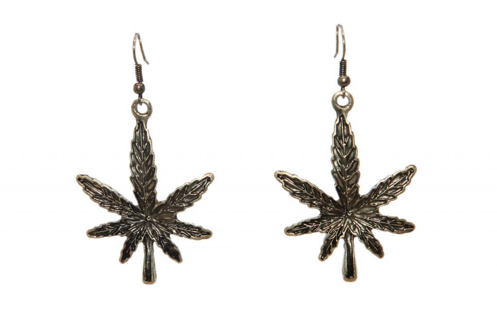 marijuana pot leaf 420 drop dangle earrings earrings