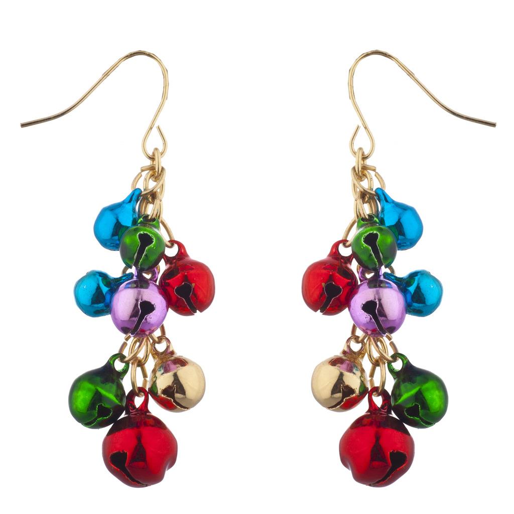 Gold tone christmas x mas jingle bells chandelier earrings earrings gold tone christmas x mas jingle bells chandelier earrings aloadofball Image collections