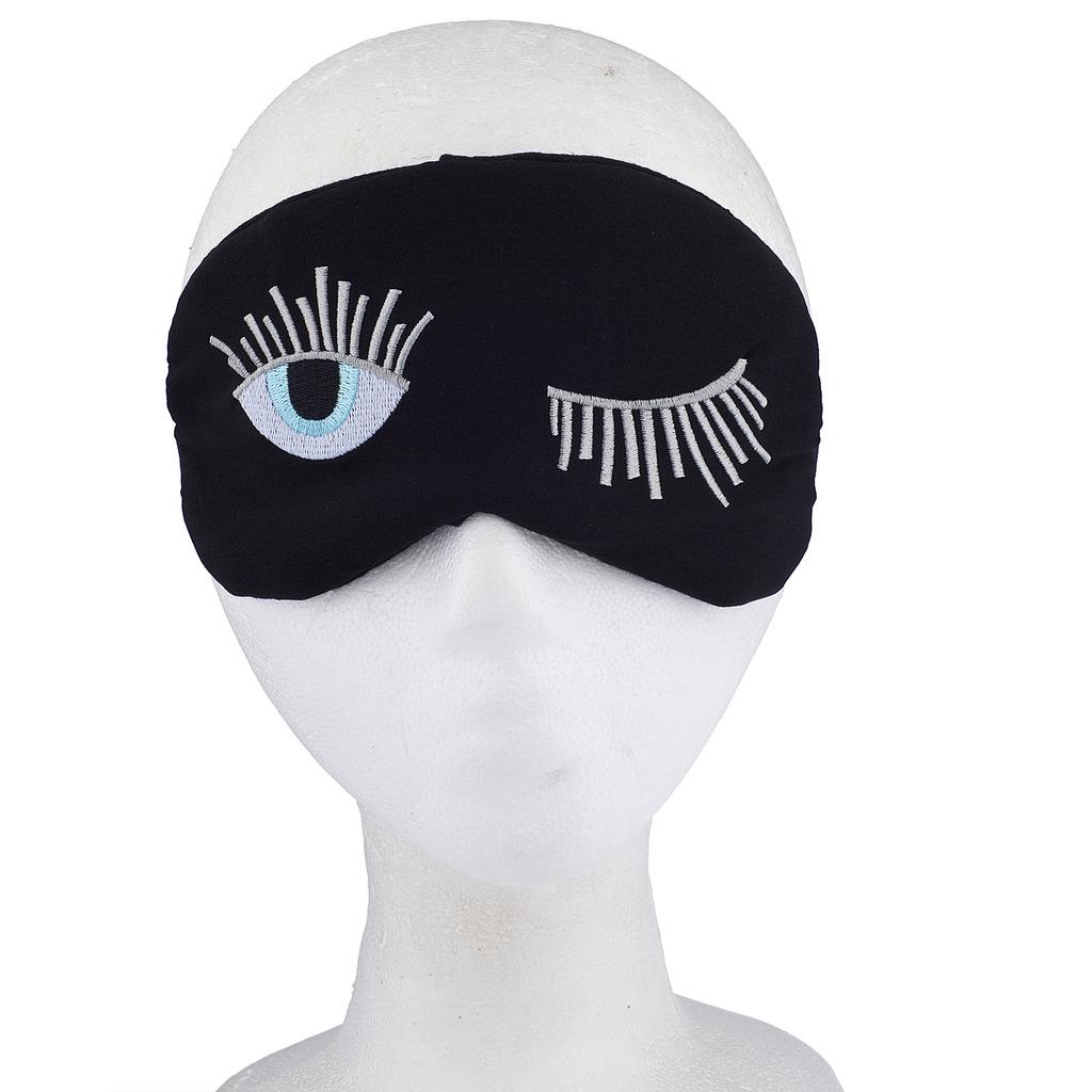 black wink winking eye eyelash one eye emoji sleeping mask phone