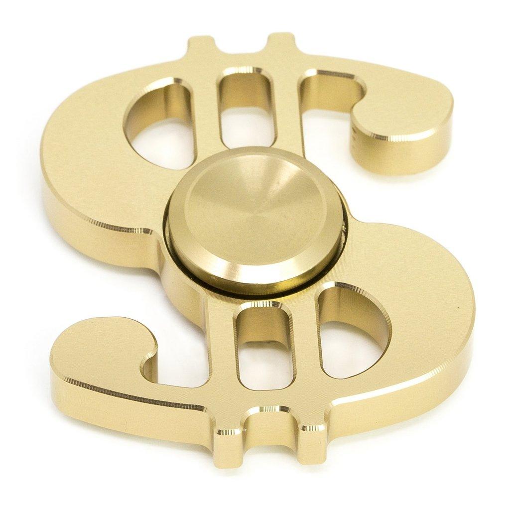 Gold Dollar Sign Money Trendy Kids Adult Toy Tri Fidget