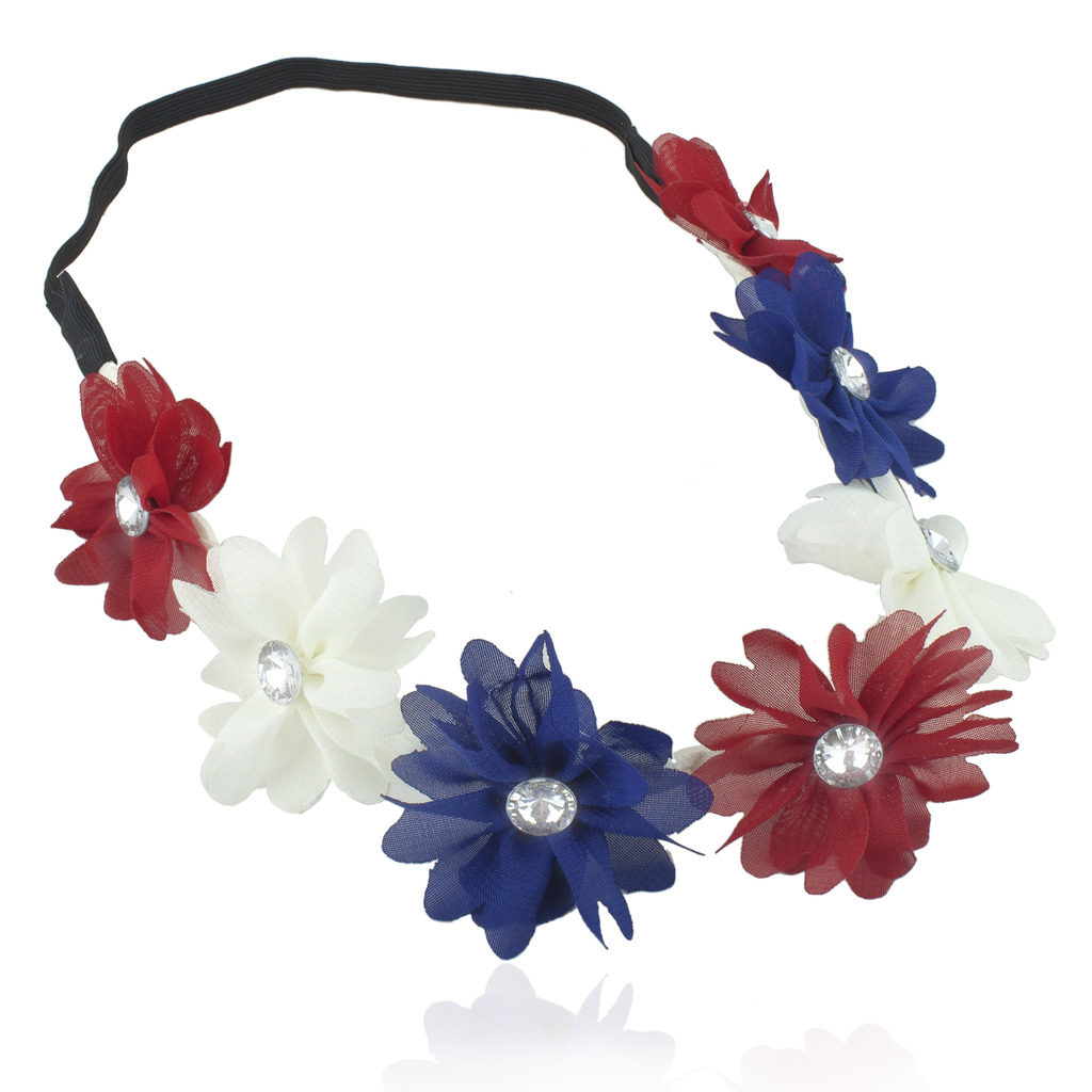 Red White Blue American Flag 4th Of July Independence Floral Flower