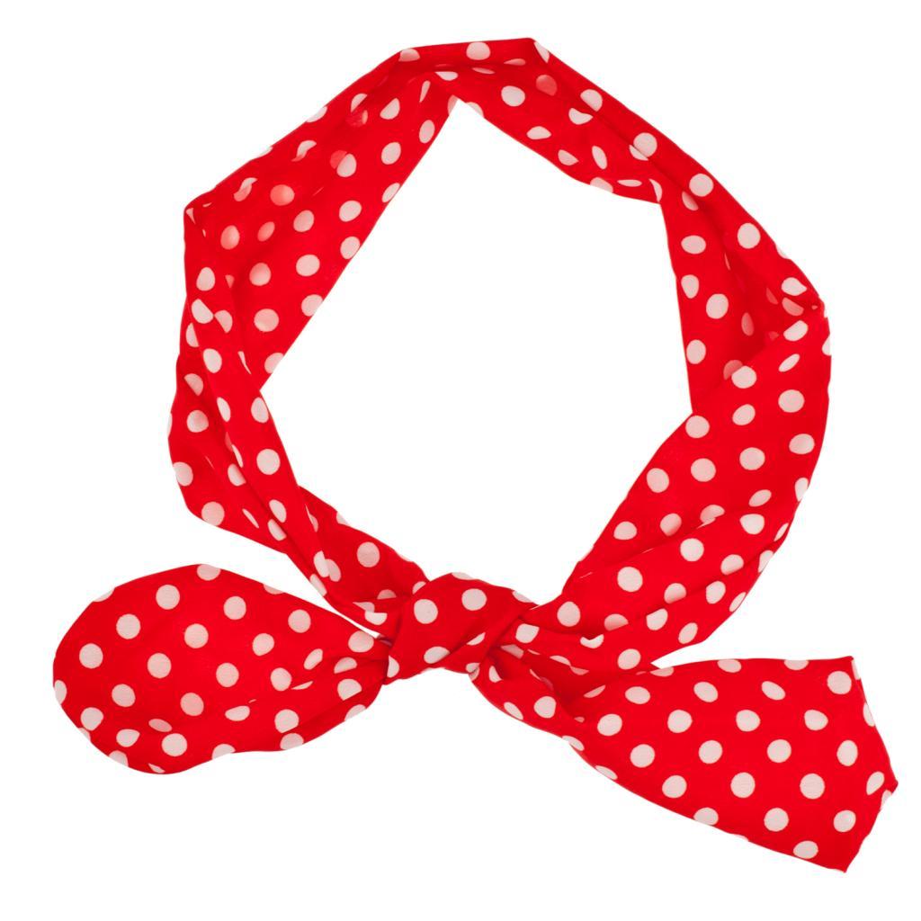 Red White Polka Dot Tie Stretch Headband Head Band - Hair Accessories 3461e349baf