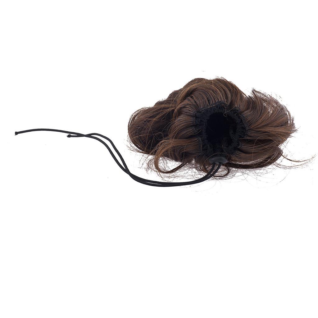 Brown Faux Hair Extension Cheerleader Ponytail Hair Clip