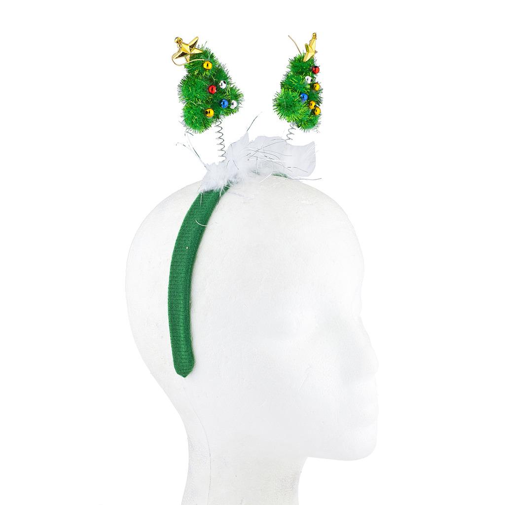 Green Festive Christmas Xmas Tree Star Antenna Headband 0cc50305f82