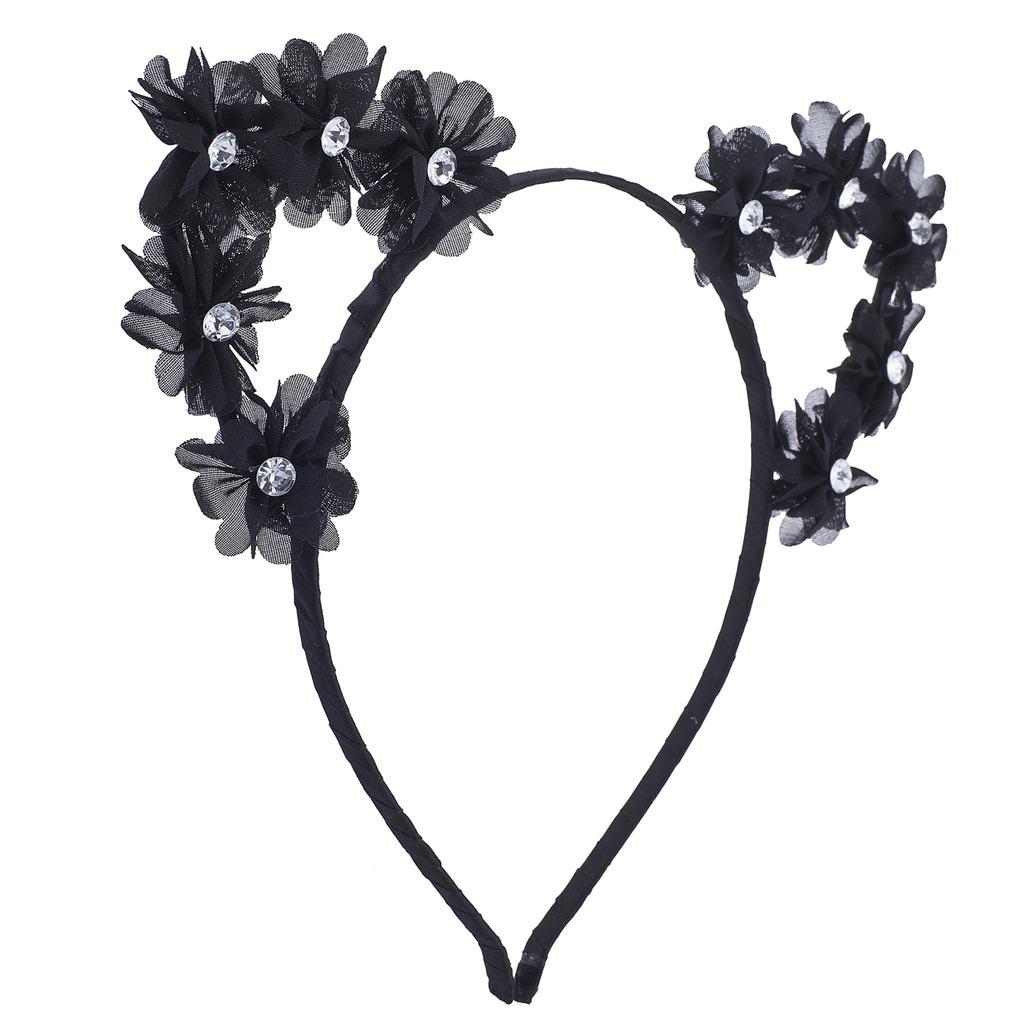 Black and white flower crown png flowers healthy black cat ear devil ear cosplay flower crown headband for s izmirmasajfo