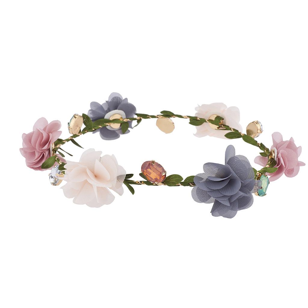 Multicolor Chiffon Jewel Garland Coachella Festival Flower Crown