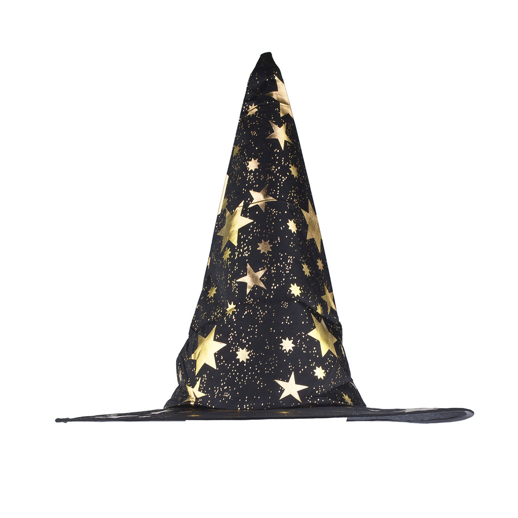Halloween Black And Gold Tone Star Witch Hat Phone