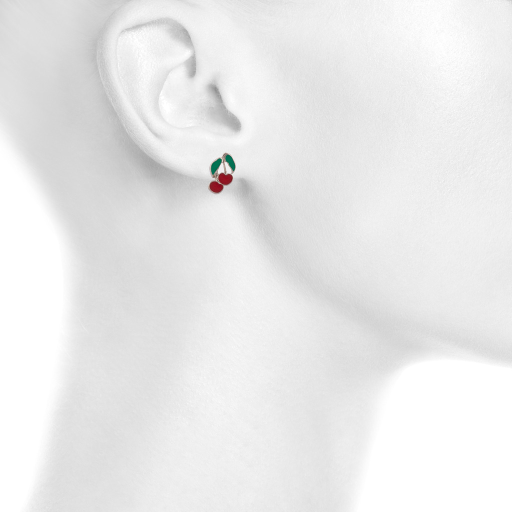 enamel for red products stud strawberry uneak buy kids earrings boutique