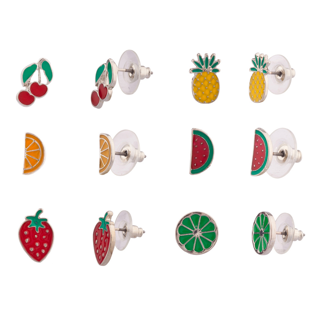 earrings trendy pair for red women fashion cute one tiny wholesale stud item in strawberry jewelry from pink bar earings simple