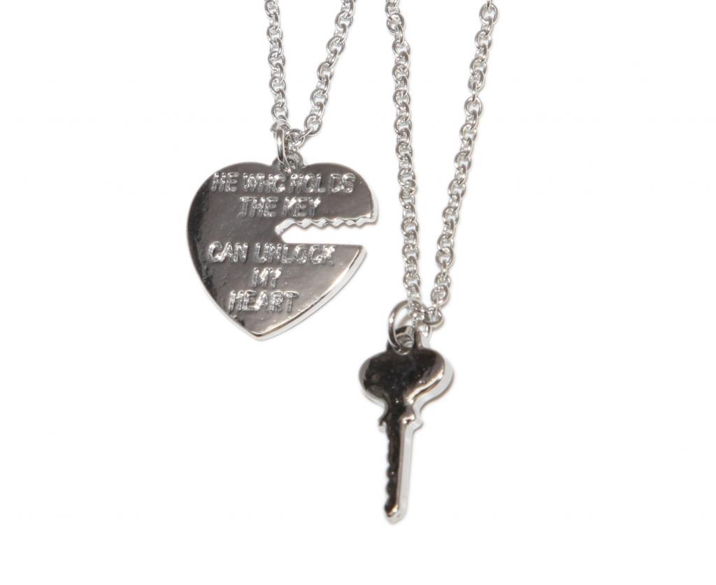 Bff unlock my heart lock key charm best friends pendant chain bff unlock my heart lock key charm best friends pendant chain necklace set 2 pc mozeypictures Choice Image