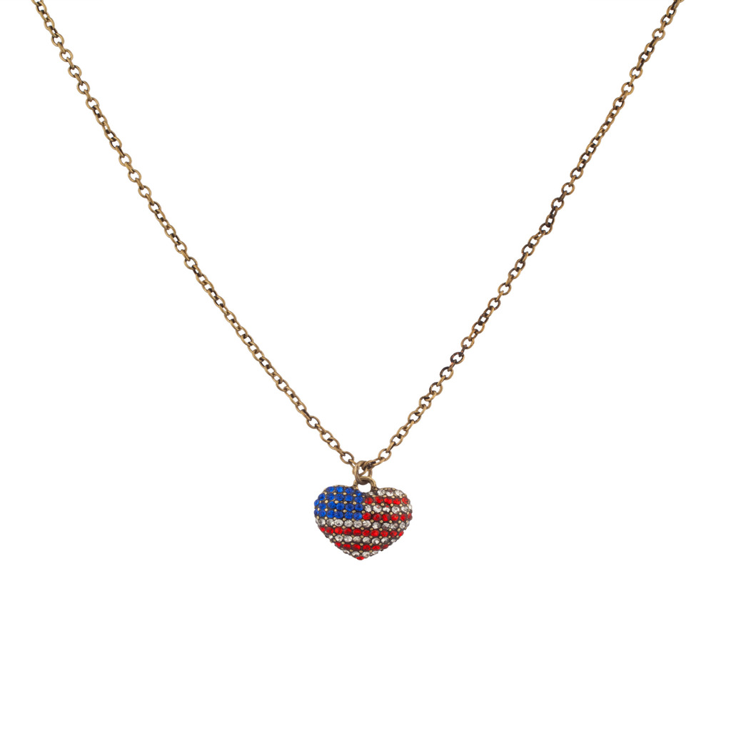 american marathon here enlarge necklace flag click to