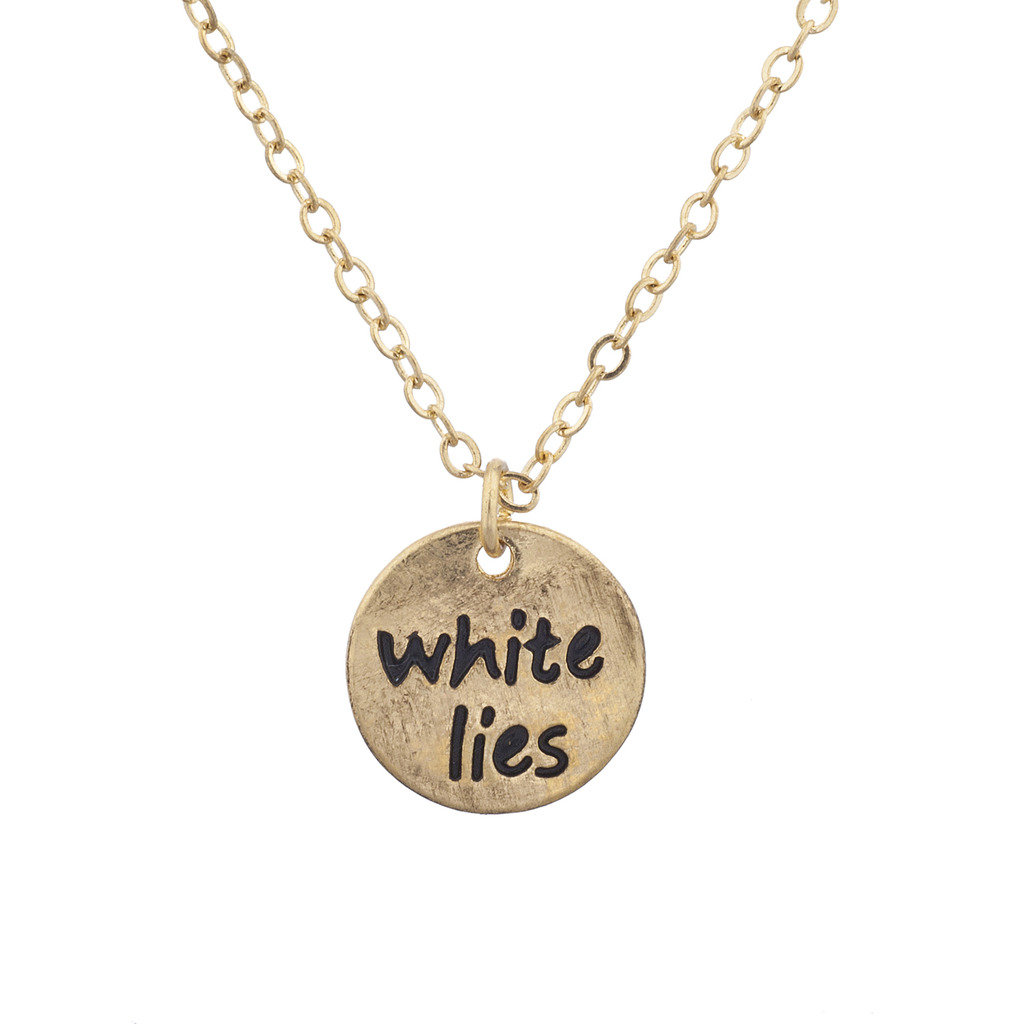 Burnished gold white lies circle disk pendant necklace necklaces burnished gold white lies circle disk pendant necklace aloadofball Images