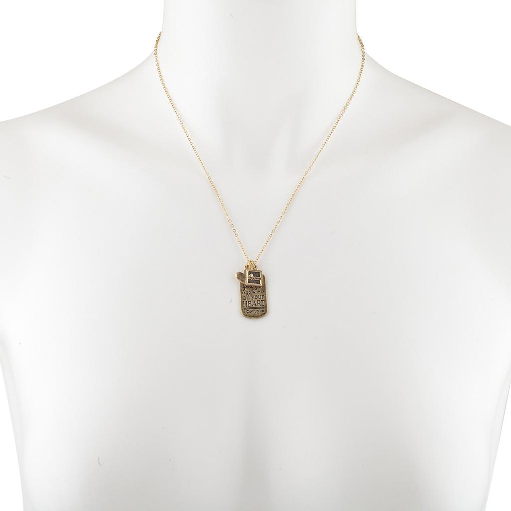 Wherever you go confucius inspirational charm pendant necklace wherever you go confucius inspirational charm pendant necklace aloadofball Choice Image
