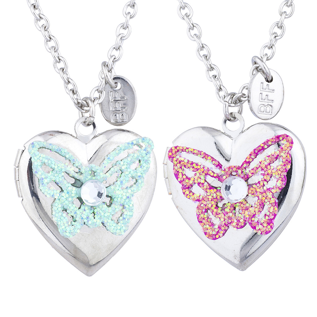 tone necklace bff friends friend butterfly index best set silver locket lockets