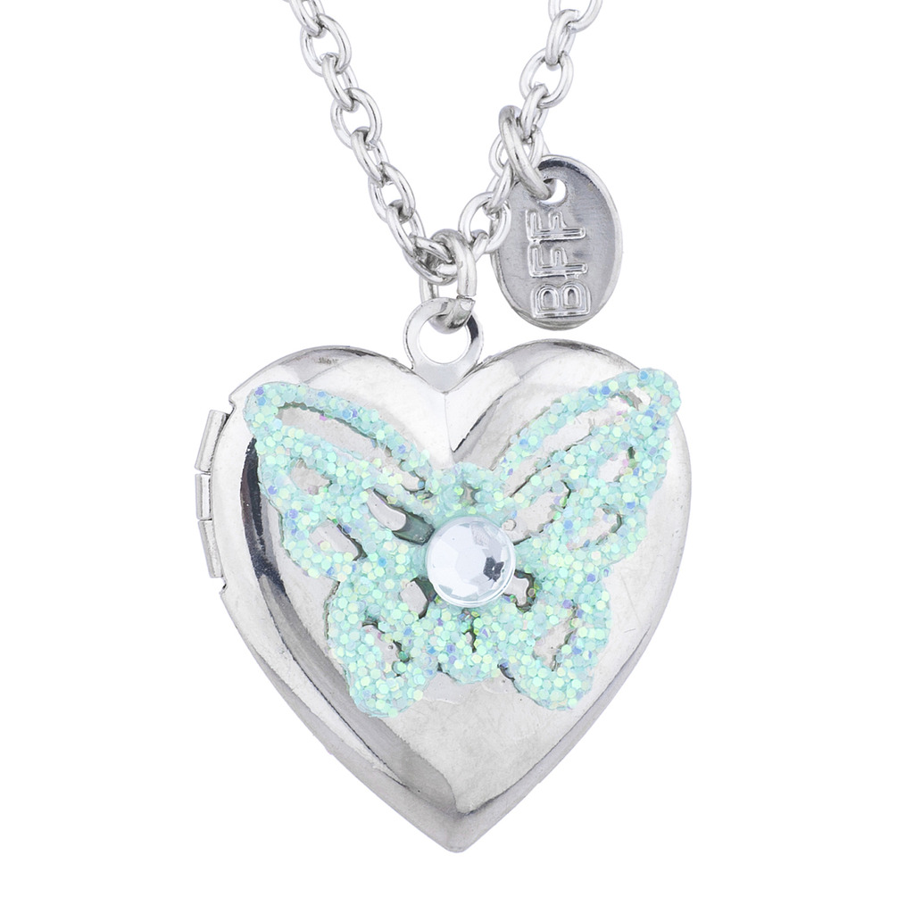 best claire s friends pastel heart pendant lockets necklaces friend glitter us locket