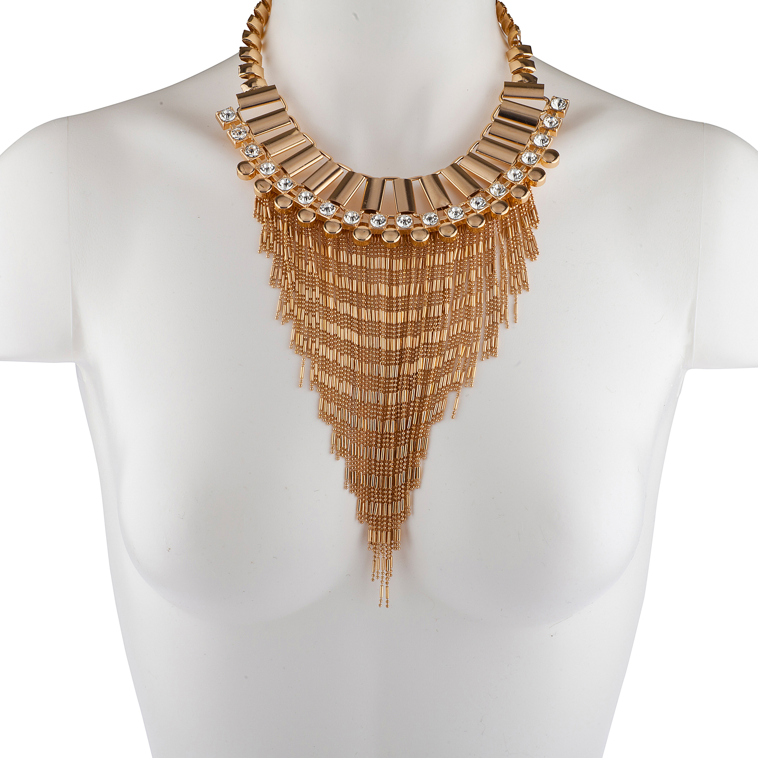 wht ns trendy necklace handmade necklaces products aeravida waterfall product details pearls bib natural