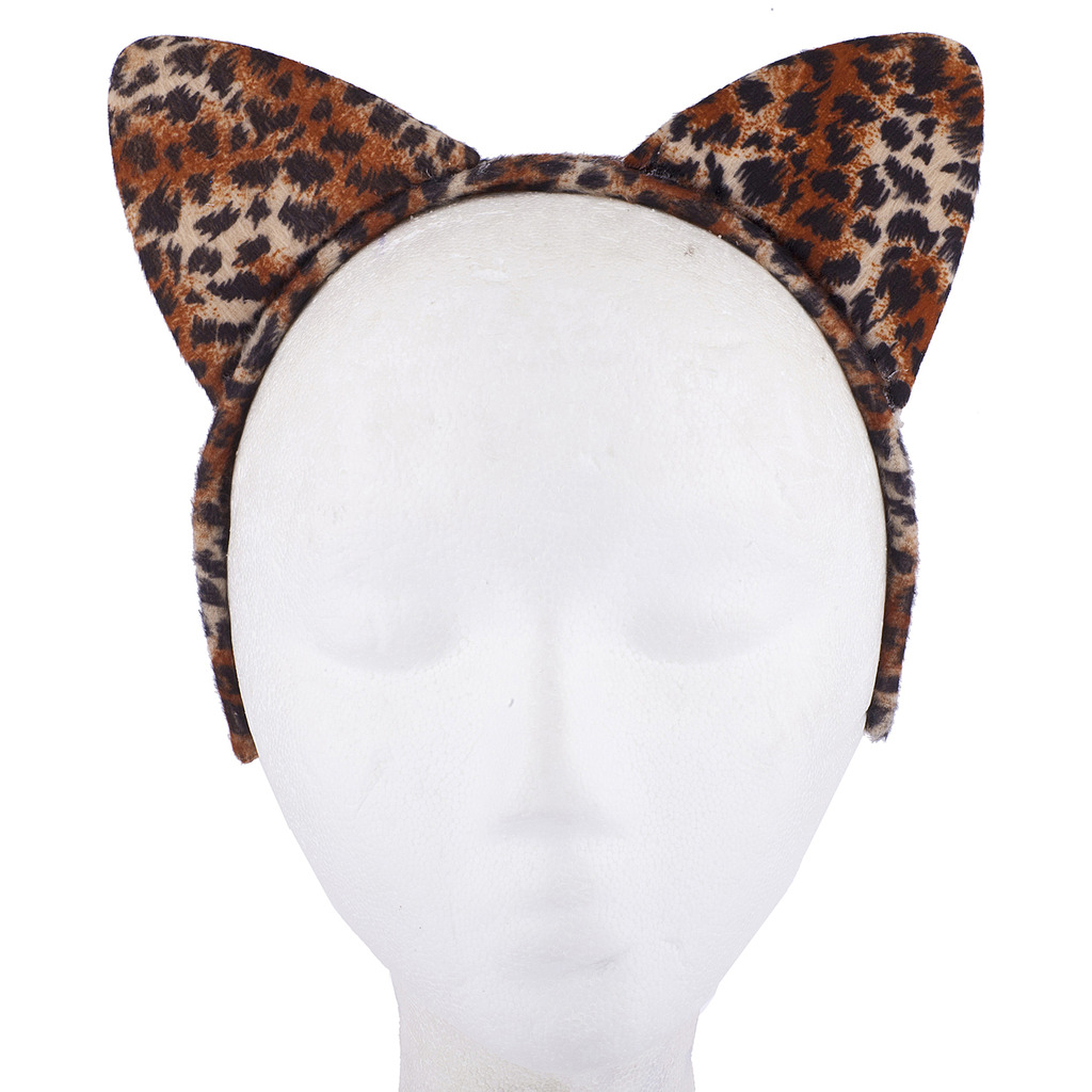 534589d3b2a5 Halloween Cat Kitty Costume Leopard Fabric Ears Bow Tie Tail - Phone ...