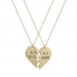 Best Friends BFF Soul Sisters Heart Necklaces (2 PC)