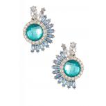 Fan Resin & Glass Gemstone Earrings