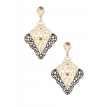 Two-Tone Filigree Earrings