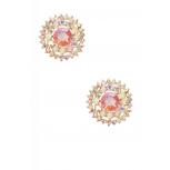 Pave Glass Rhinestone Stud Earrings