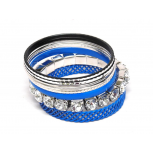 Blue Multi Bangle Set (8 PC)
