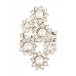 Faux Pearl Statement Ring